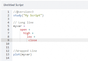 Invalid Line Wrapping
