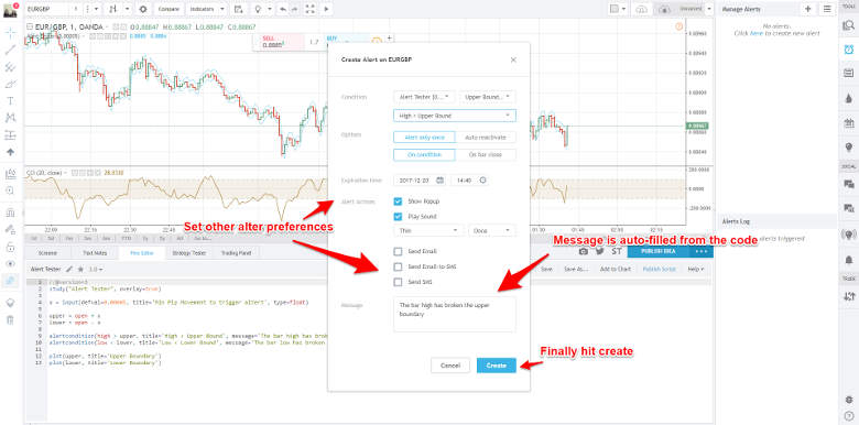 Tradingview Creating Alerts Backtest Rookies